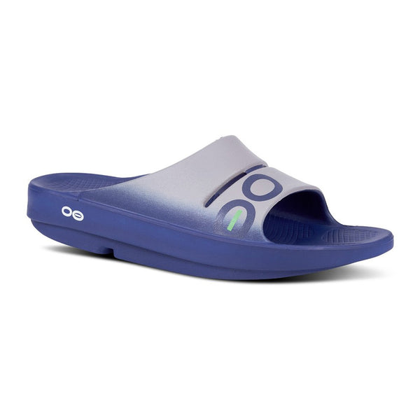 OOFOS OOahh Sport Slide Navy/Steel Sandals (1500STNVY)