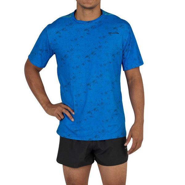 BOA Mens Hypersoft Illusion Electric Short Sleeve Running Shirt (2124HSP-ILLEB)