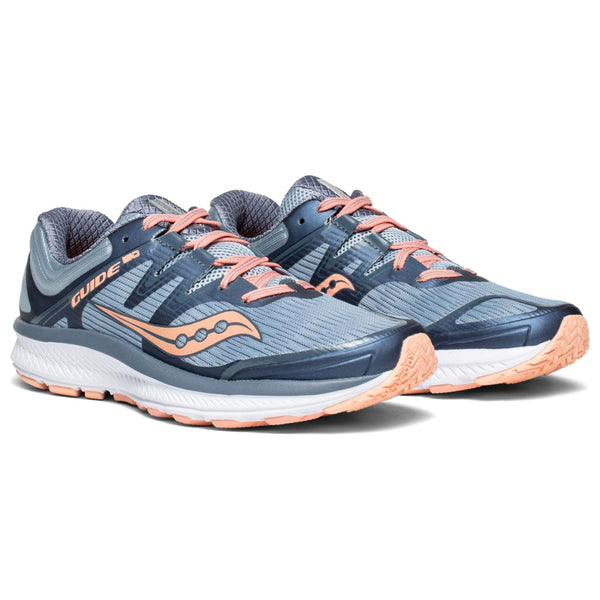 SAUCONY Women's Guide ISO Slate Peach Running Shoe (S10415-5-020)