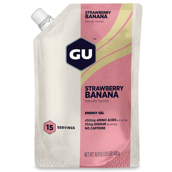 GU ENERGY Original Sports Nutrition Strawberry Banana 15 Serving Packet Energy Gel (124100)