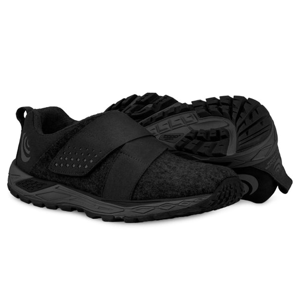 TOPO ATHLETIC Mens Rekovr Charcoal/Black Running Shoe (M025-CHABLK)