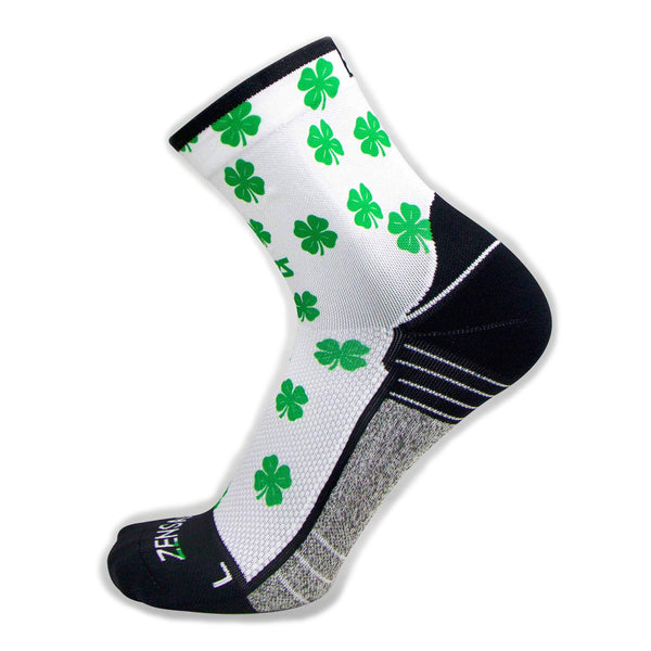ZENSAH St. Patricks Day Mini Crew Shamrock/White Socks (8649-101)