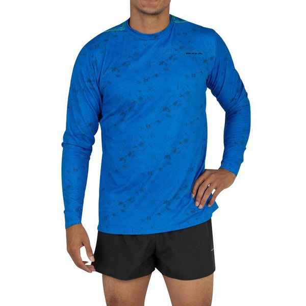 BOA Mens Hypersoft  Illusion Electric Long Sleeve Running Shirt (2440HSP-ILLEB)