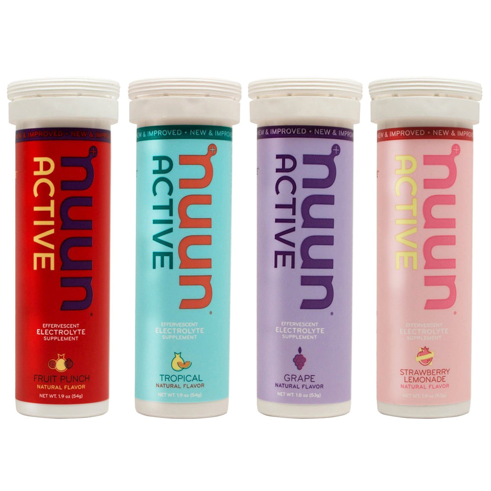 NUUN Active Mixed New Flavors Box of 4 Tubes Electrolyte Tablets (1169904)