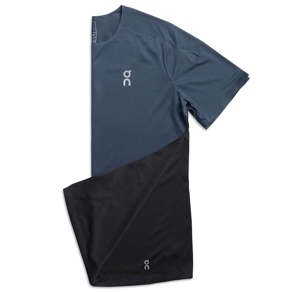 ON FOOTWEAR Mens Performance-T Navy/Black Shirt (102.4110)