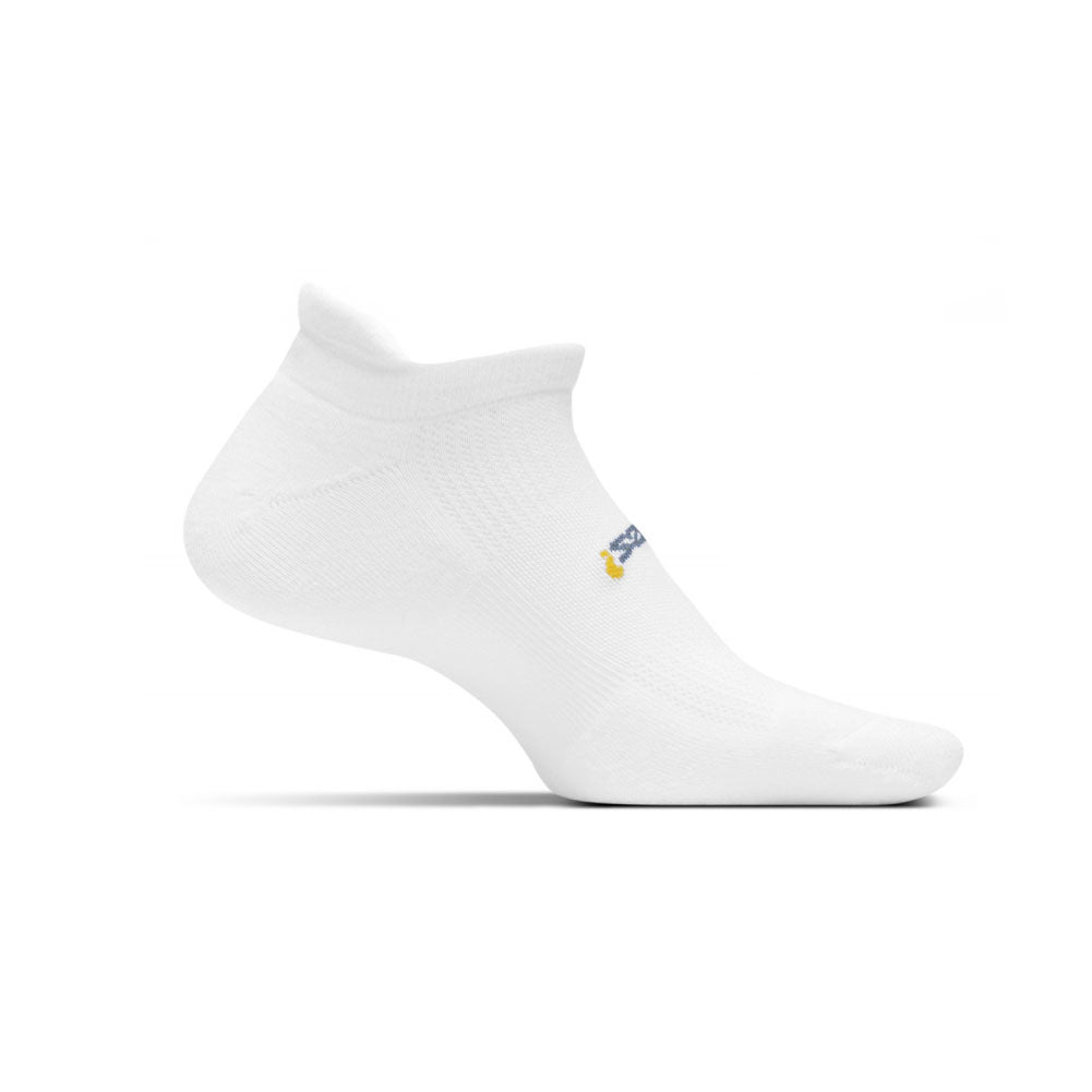 FEETURES HP Cushion Unisex White Running Socks (FA5000)