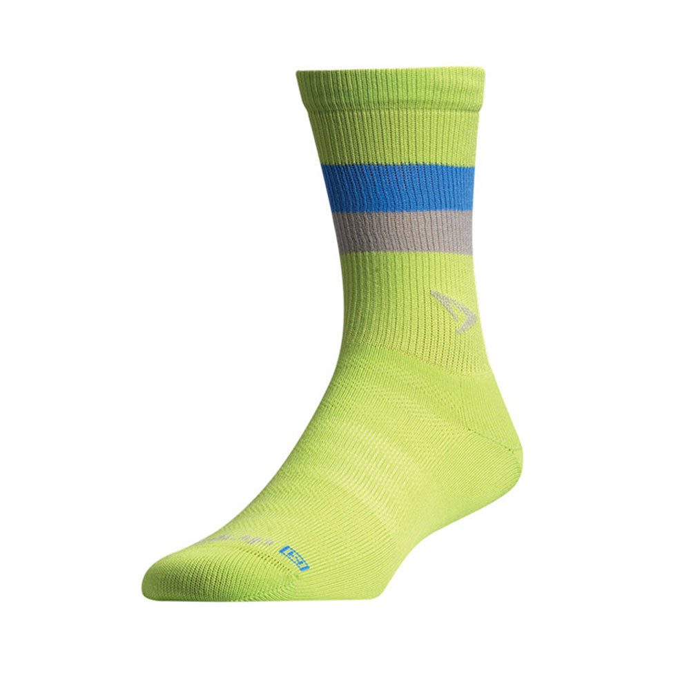 DRYMAX Lite-Mesh Unisex Crew Sublime with Blue/Gray Running Socks (DMX-RUN-1100-P)