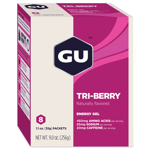 GU ENERGY Original Sports Nutrition Tri Berry 8-Pack Energy Gel (123034)