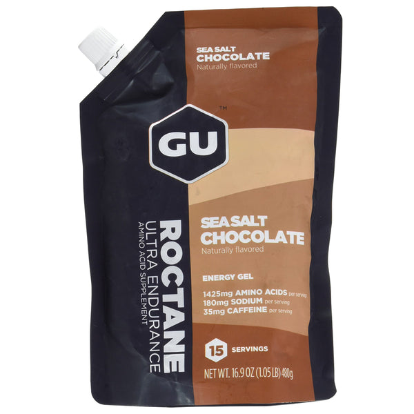 GU ENERGY Roctane Ultra Endurance Sea Salt Chocolate 15 Serving Packet Energy Gel (124102)
