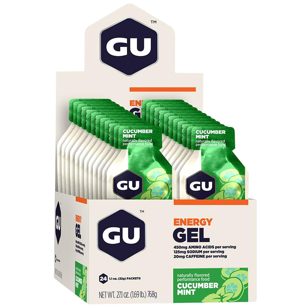 GU ENERGY Original Sports Nutrition Cucumber Mint 24-Pack Energy Gel (124125)