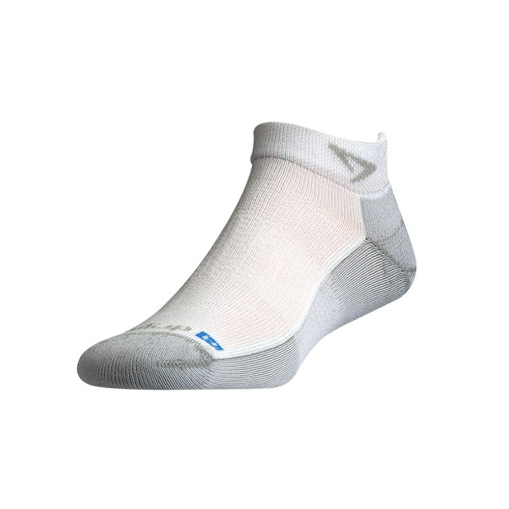 DRYMAX Run Unisex Mini Crew White/Gray Running Socks (DMX-RUN-0773-P)