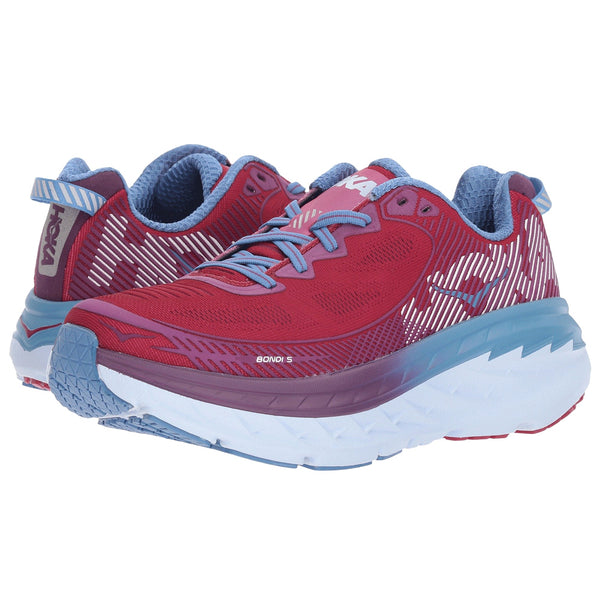 HOKA ONE ONE Women's Bondi 5 Cherries Jubilee Purple Passion Shoe (1014759-CJPP)
