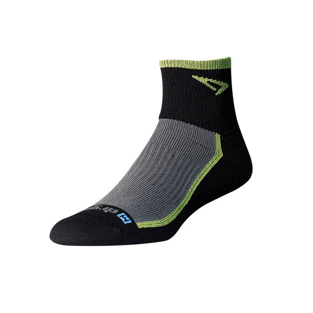 DRYMAX Trail Run Unisex 1/4 Crew Turn Down Lime Green/Black/Gray Running Socks (DMX-RUN-1303-P)