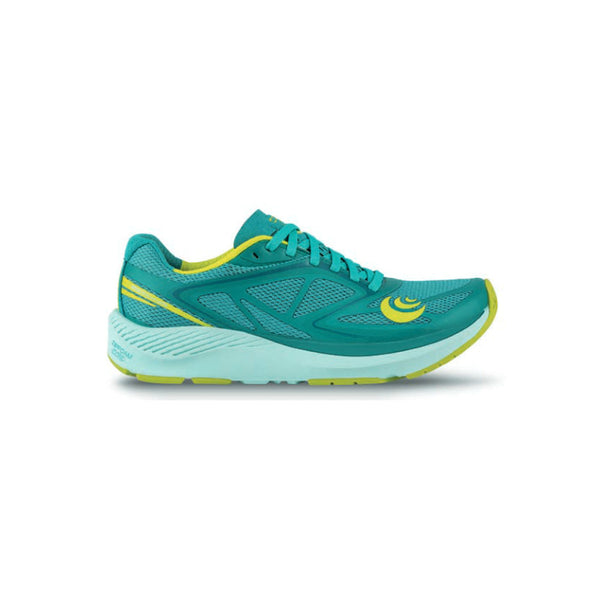 TOPO ATHLETIC Womens Zephyr Teal/Lime Shoes (W037-TEALIM)