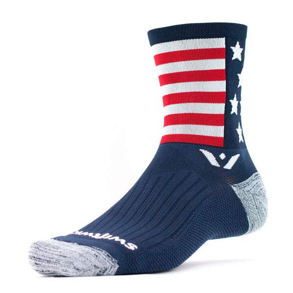 Swiftwick Vision Five American Spirit Running Socks (5EL20ZZ)