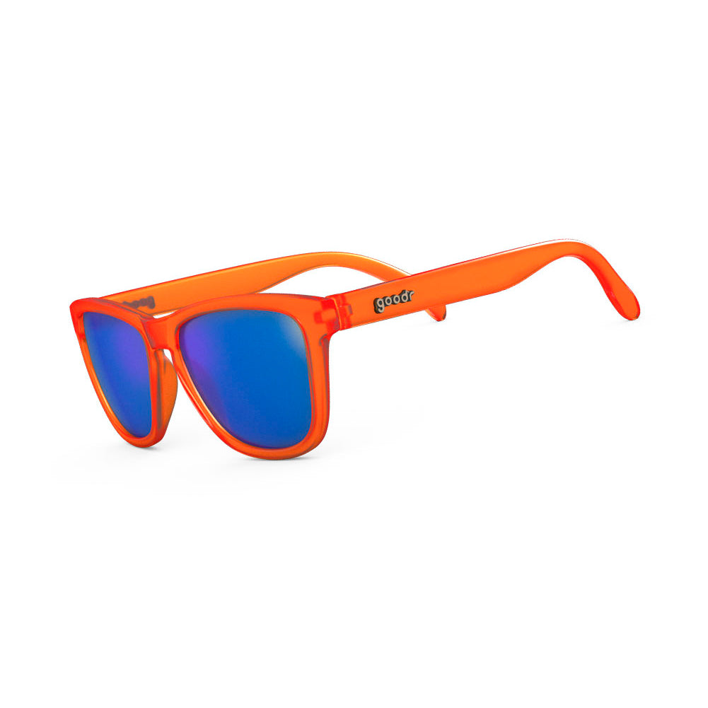 GOODR Donkey Goggles Orange with Blue Lens Sunglasses (OG-OR-BL1)