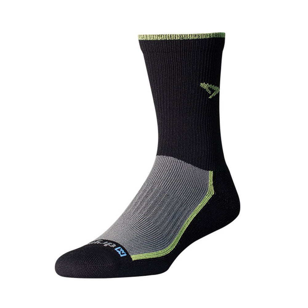 DRYMAX Trail Run Unisex Crew Lime Green/Black/Gray Running Socks (DMX-RUN-1288-P)