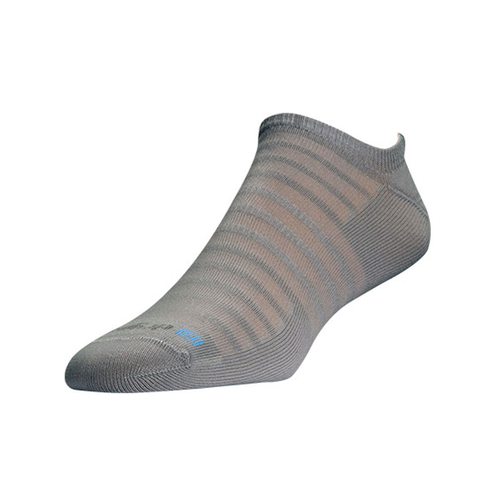 DRYMAX Hyper Thin Unisex No Show Light Gray Running Socks (DMX-RUN-1233-P)