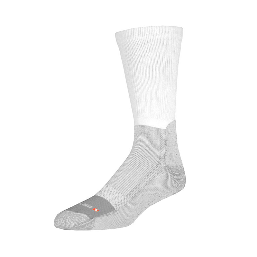 DRYMAX Work Boot Unisex Crew White/Gray Running Socks (DMX-WRK-2483-P)