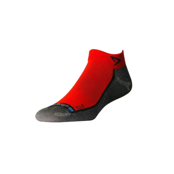 DRYMAX Lite Trail Run Unisex Mini Crew Red/Anthracite Running Socks (DMX-RUN-1310-P)