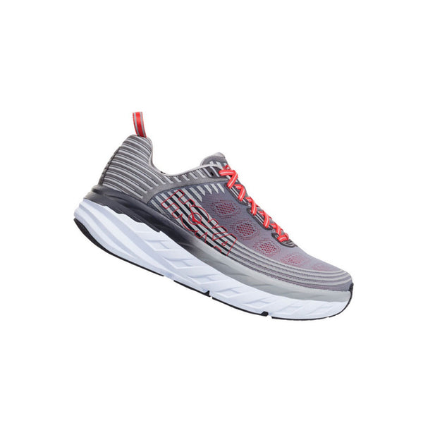 HOKA Mens Bondi 6 Alloy/Steel Gray Shoe (1019269-ASGY)