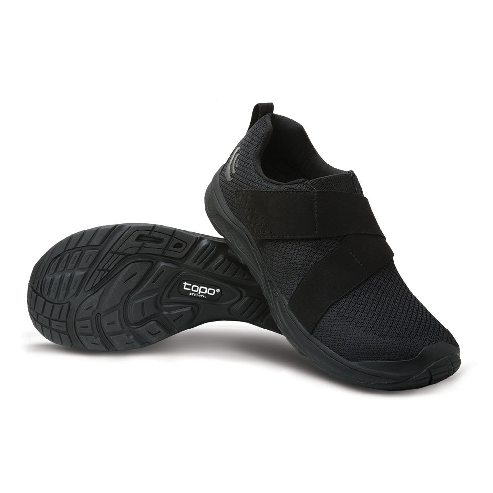 Topo Athletic COR Mens Black & Black Gym Shoes (M023-BLKBLK)