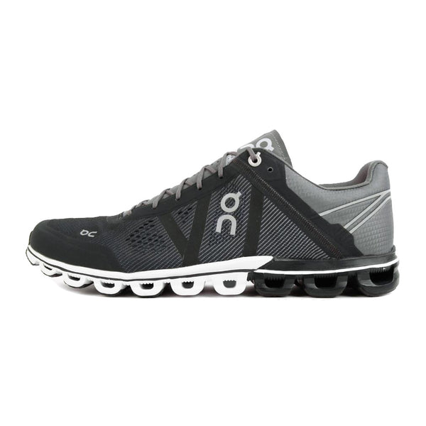 On Footwear Cloudflow Mens Performance Black & Asphalt Running Shoes (15.4005)