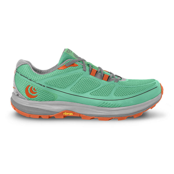 TOPO ATHLETIC Womens Terraventure 2 Mint/Tangerine Running Shoes (W029-MINTGR)