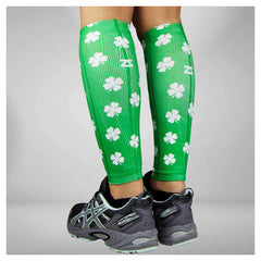 ZENSAH St. Patricks Day Compression Shamrock/Green Leg Sleeves (6370-104)