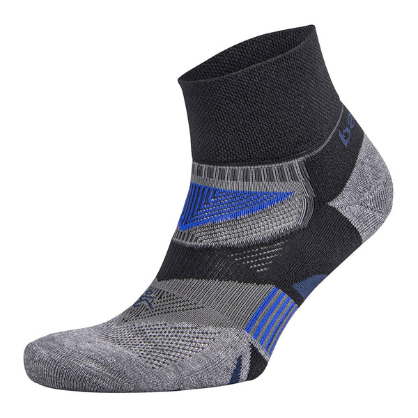 BALEGA Enduro V-Tech Unisex Black & Grey Heather Running Socks (8971-3339)