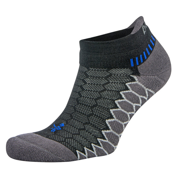 BALEGA Silver Unisex Black & Carbon Running Socks (8073-0341)