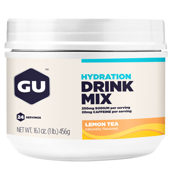 GU ENERGY Hydration Lemon Tea 24 Serving Canister Drink Mix (123104)