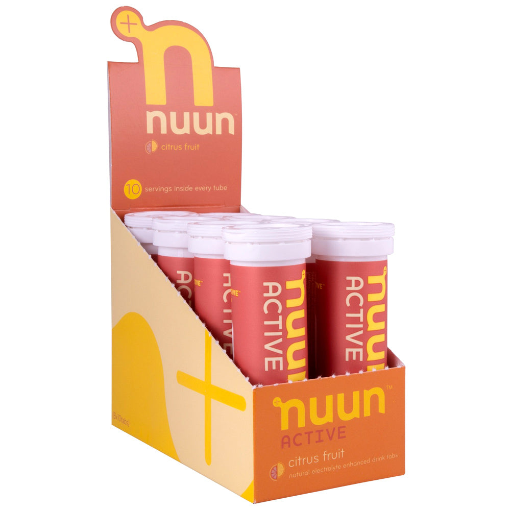 NUUN Active Citrus Fruit Box of 8 Tubes Electrolyte Tablets (1160408)