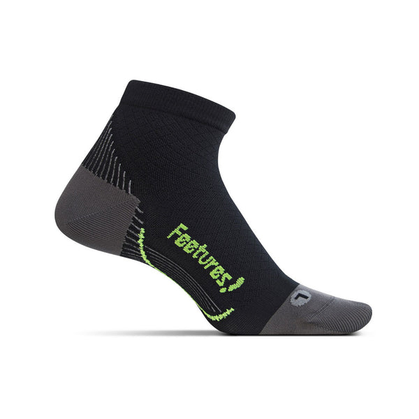 FEETURES PF Relief Ultra Light Unisex Black Running Socks (PF2501)