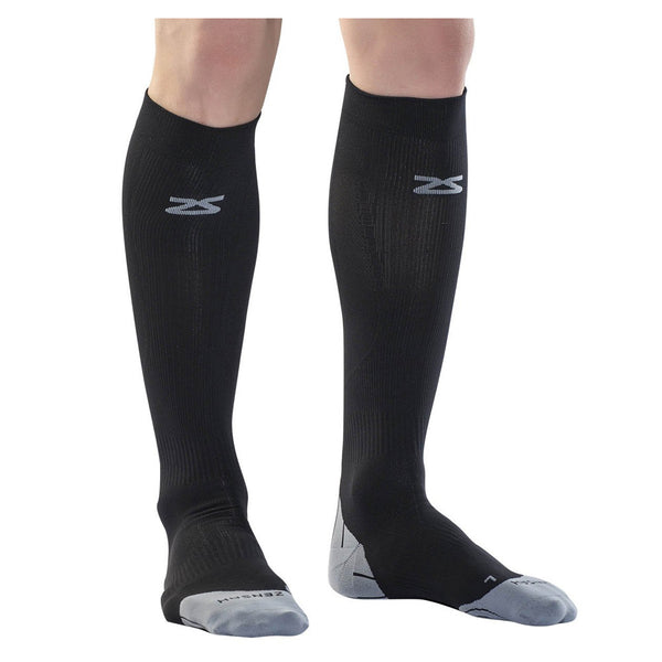 ZENSAH Tech+ Compression Black Socks (8532-100)