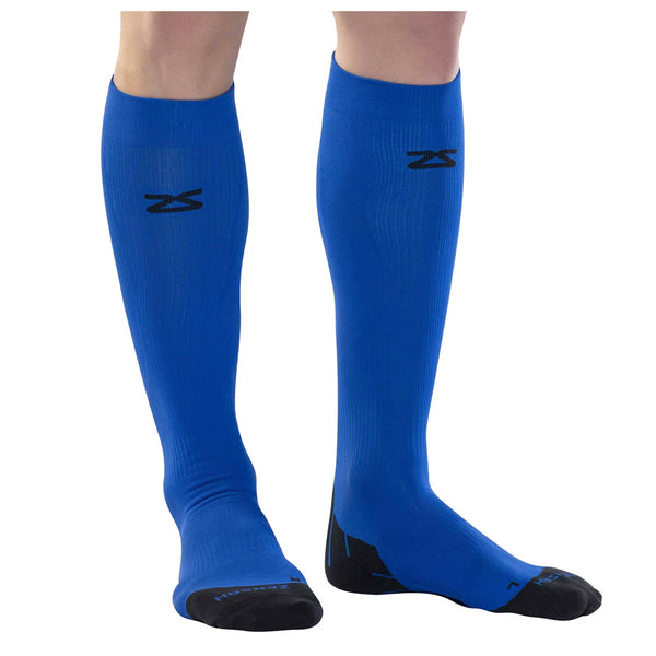 ZENSAH Tech+ Compression Electric Blue Socks (8532-137)