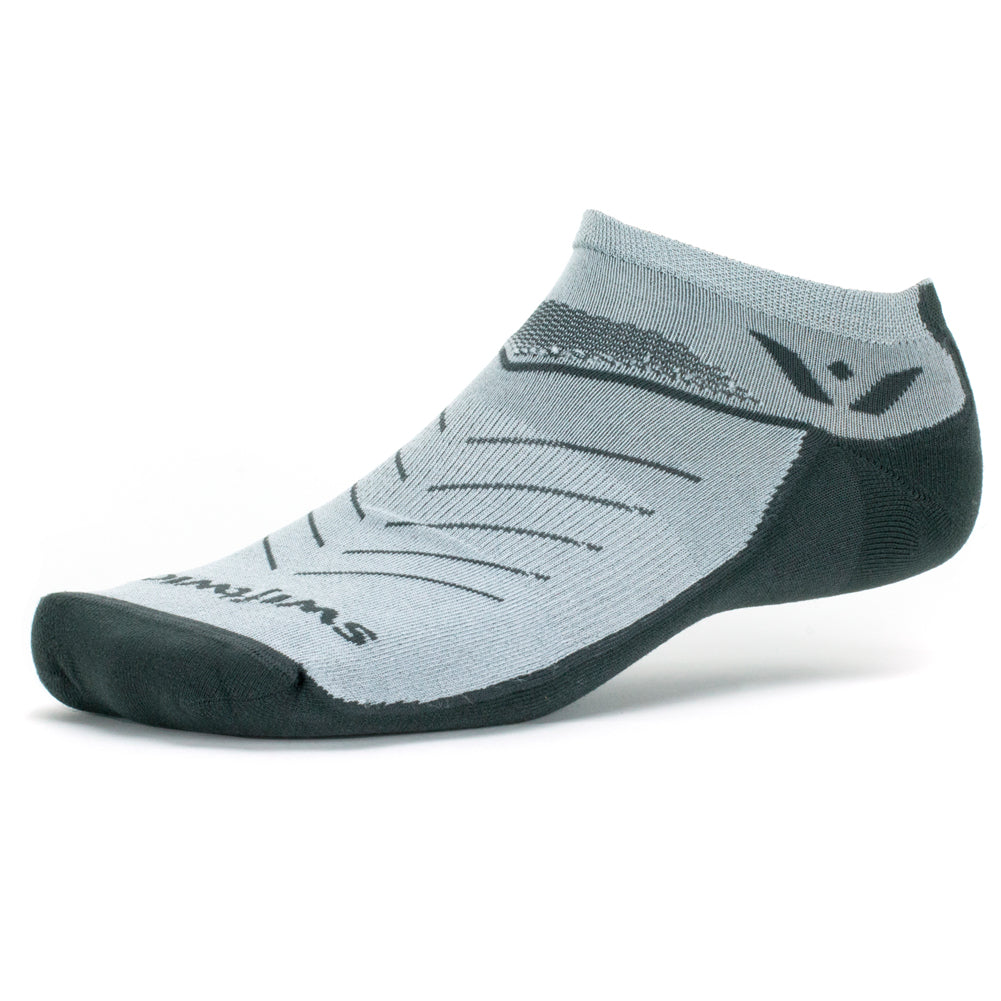 Swiftwick Vibe Zero Gray Running Socks (ZF140ZZ)