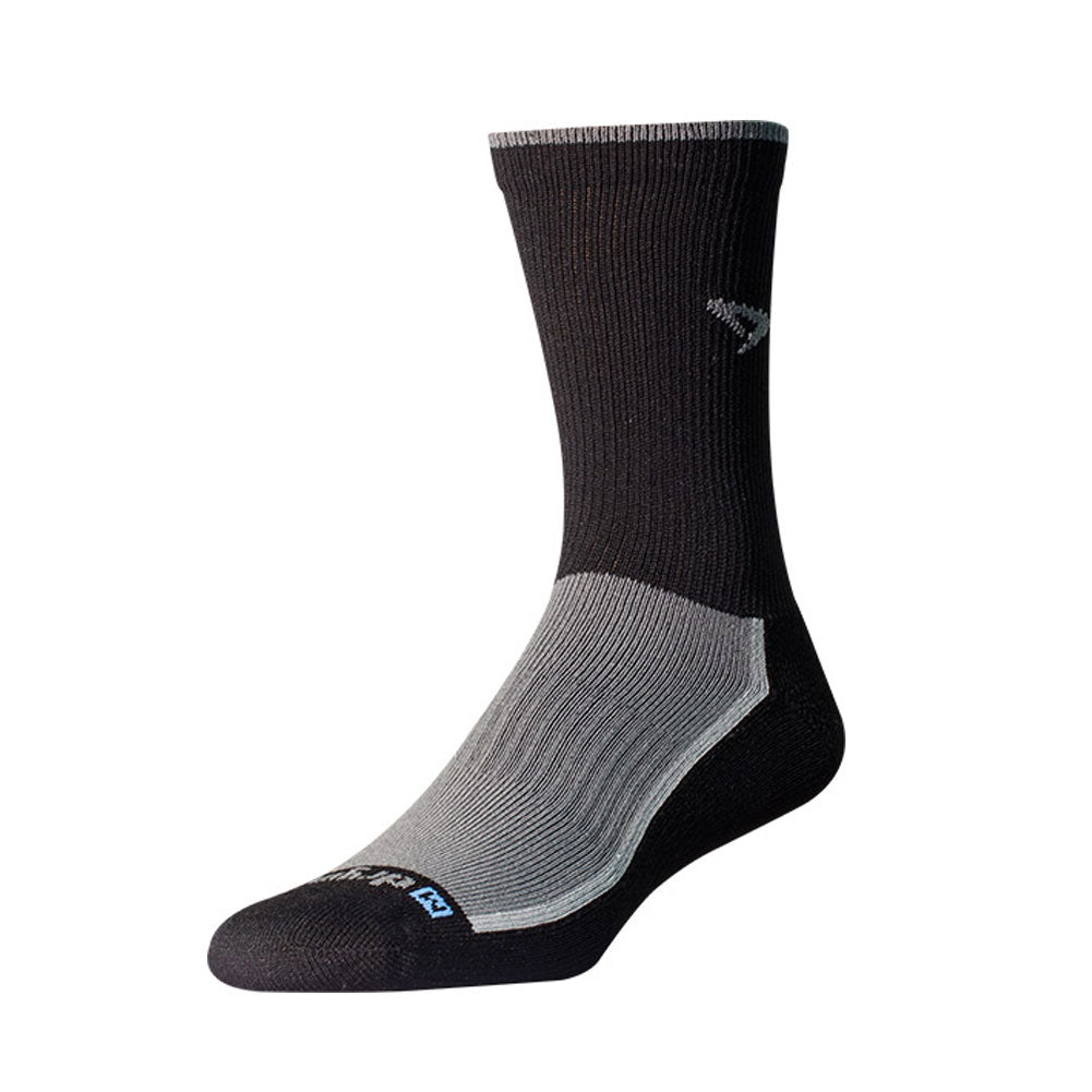 DRYMAX Trail Run Unisex Crew Gray/Black Running Socks (DMX-RUN-1287-P)
