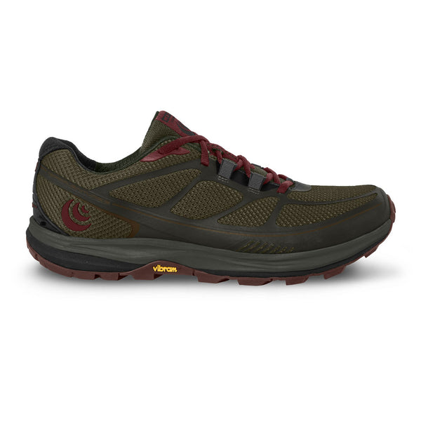TOPO ATHLETIC Womens Terraventure 2 Olive/Raisin Running Shoes (W029-OLVRAI)