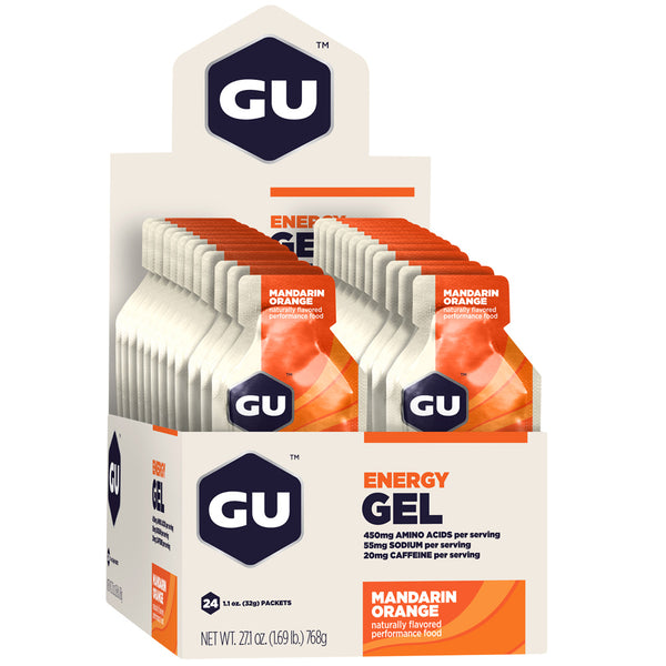 GU ENERGY Original Sports Nutrition Mandarin Orange 24-Pack Energy Gel (123043)