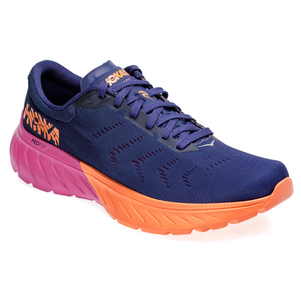HOKA ONE ONE Womens Mach 2 Medieval Blue/Very Berry Running Shoe (1099722-MBVB)