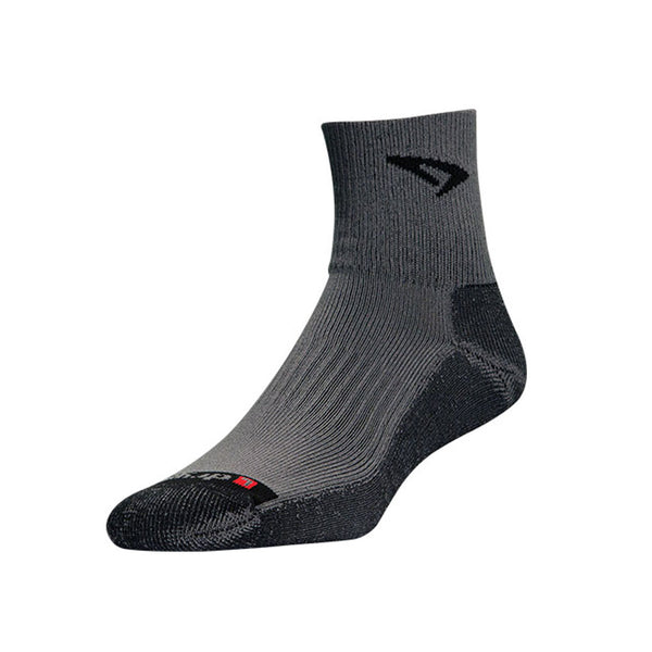 DRYMAX Lite Trail Run Unisex 1/4 Crew Turn Down Gray/Anthracite Running Socks (DMX-RUN-1299-P)