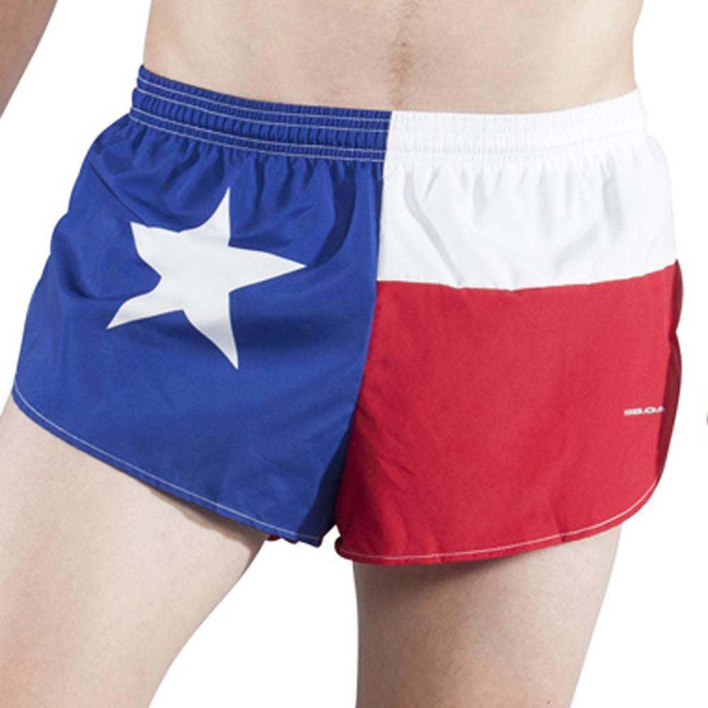 BOA Mens 1in Elite Split Texas Flag Running Short (1042-STX)