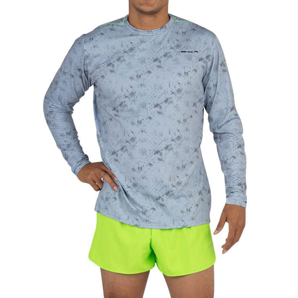 BOA Mens Hypersoft Illusion Steel Long Sleeve Running Shirt (2440HSP-ILLSB)