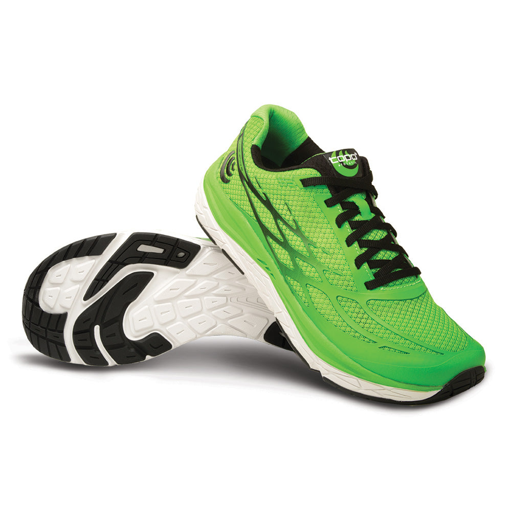 Topo Athletic Magnifly 2 Mens Bright Green & Black Running Shoes (M021-BGRBLK)
