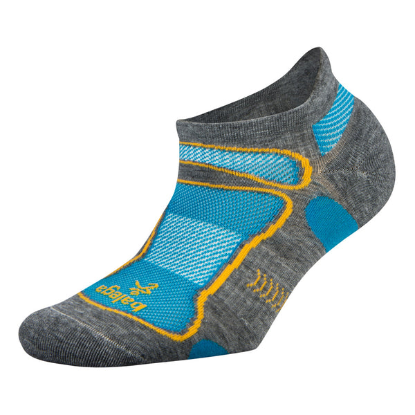Balega Ultra Light No Show Unisex Mid Grey Running Socks (8924-0339)