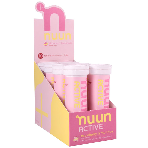 NUUN Active Strawberry Lemonade Box of 8 Tubes Electrolyte Tablets (1160708)