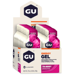 GU ENERGY Original Sports Nutrition Tri-Berry 24-Pack Energy Gel (123049)
