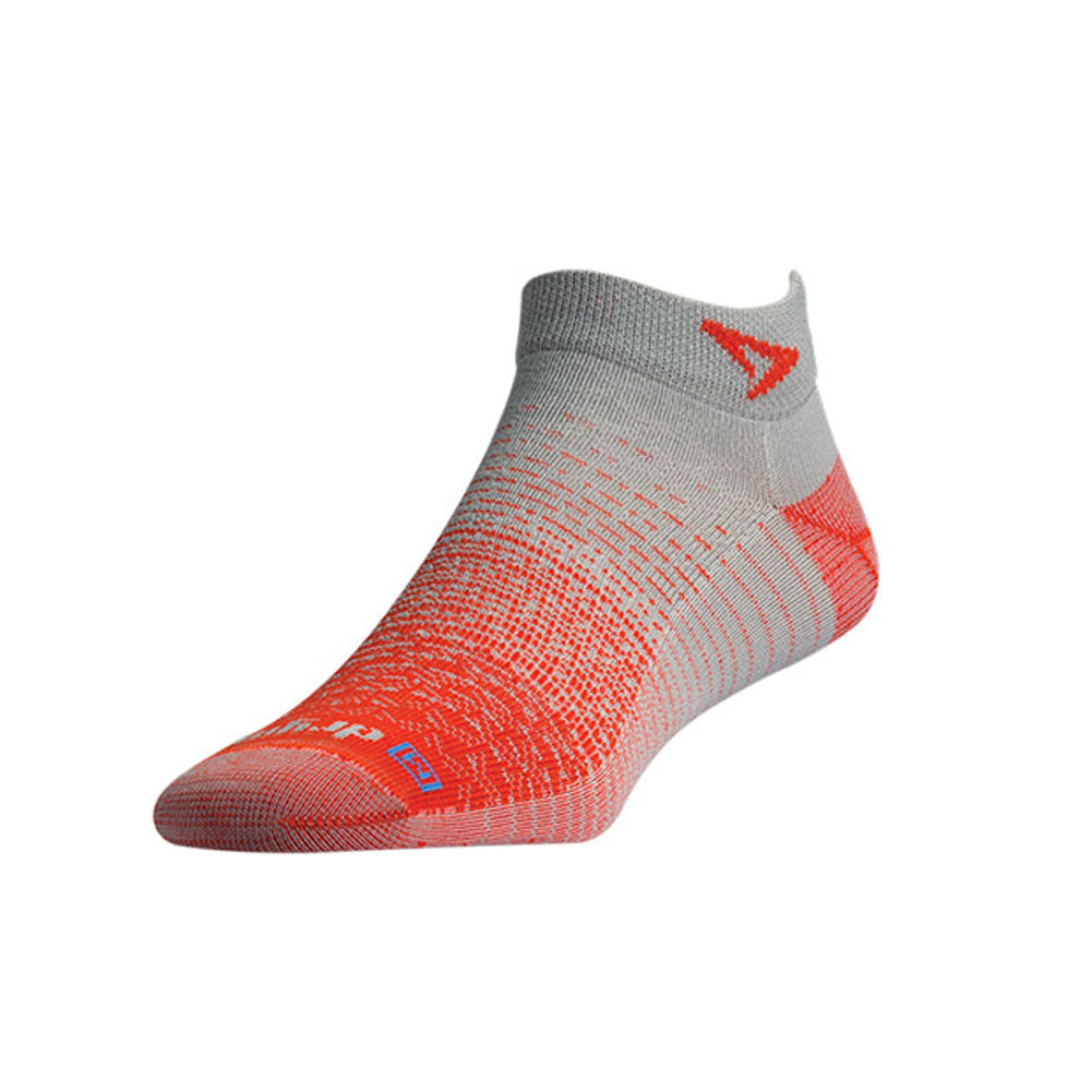 DRYMAX Thin Unisex Mini Crew Sunburst Orange/Gray Running Socks (DMX-RUN-1374-P)