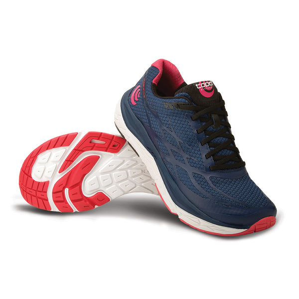 Topo Athletic Magnifly 2 Womens Navy & Pink Running Shoes (W021-NAVPNK)